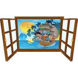 Sticker enfant fenêtre pirate réf 3903