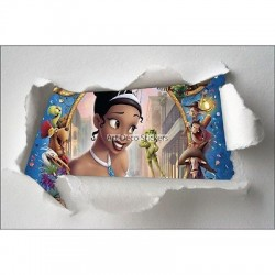 Stickers enfant papier déchiré Princesse réf 7646
