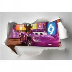 Stickers enfant papier déchiré Cars réf 7645