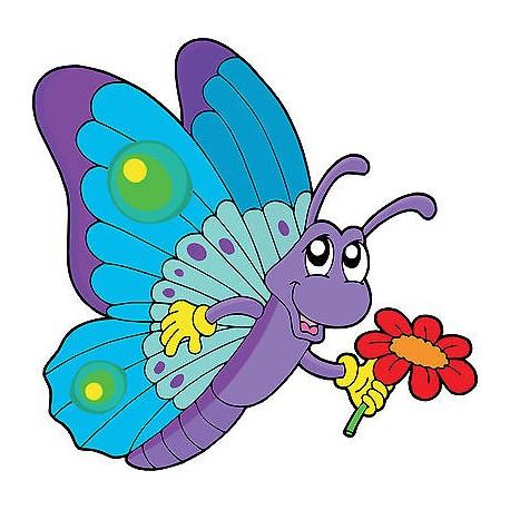Sticker enfant Papillon réf 2543 (Dimensions de 10 cm à 130cm de hauteur)