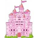 Sticker enfant Chateau réf 2541 (Dimensions de 10 cm à 130cm de hauteur)
