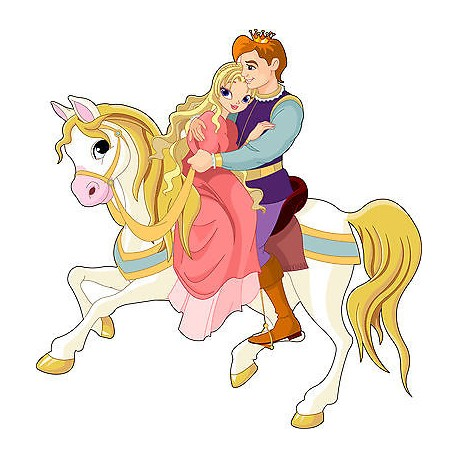 Sticker enfant Prince princesse réf2540 (Dimensions de 10 cm à 130cm de hauteur)