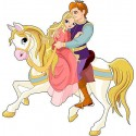 Sticker enfant Prince princesse réf2540