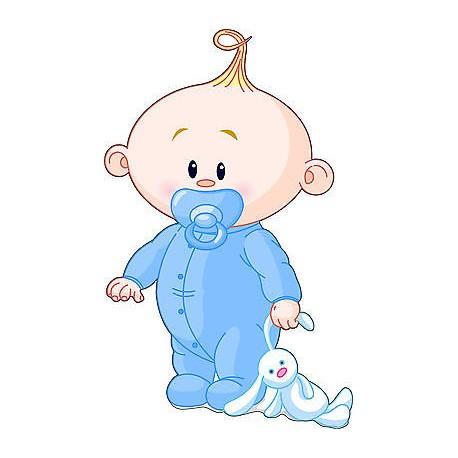 Sticker enfant Bébé garçon réf 2526 (Dimensions de 10 cm à 130cm de hauteur)