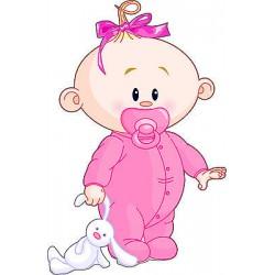 Sticker enfant Bébé fille réf 2525