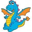 Sticker enfant Dragon réf 2524 (Dimensions de 10 cm à 130cm de hauteur)