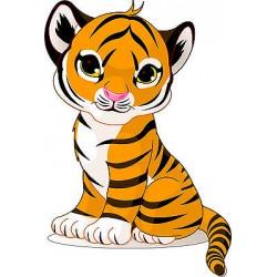 Sticker enfant Tigre réf 2520 (Dimensions de 10 cm à 130cm de hauteur)