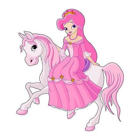 Sticker enfant Princesse réf 2516 (Dimensions de 10 cm à 130cm de hauteur)