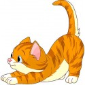 Sticker enfant Chat réf 2515 (Dimensions de 10 cm à 130cm de hauteur)
