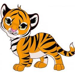 Sticker enfant Tigre réf 2514