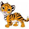 Sticker enfant Tigre réf 2514 (Dimensions de 10 cm à 130cm de hauteur)