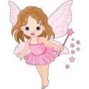 Sticker enfant fée réf 2513 (Dimensions de 10 cm à 130cm de hauteur)