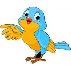 Sticker enfant Oiseau réf 2511 (Dimensions de 10 cm à 130cm de hauteur)