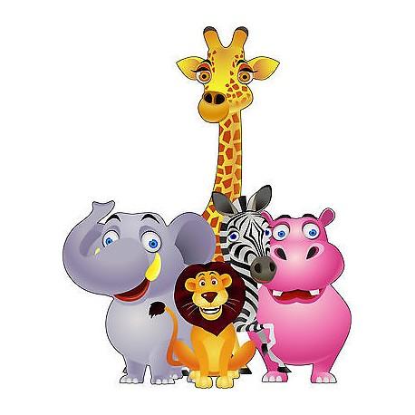 Image Animaux De La Jungle sticker enfant animaux de la jungle réf 807 - stickers muraux enfant