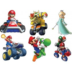 Stickers enfant planche de stickers Mario ref 15125
