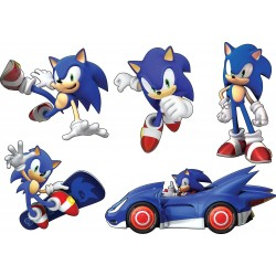 Stickers enfant planche de stickers Sonic ref 15126