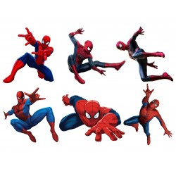 Stickers enfant planche de stickers Spiderman ref 15128