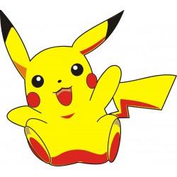 sticker Autocollant enfant Pikachu 15131