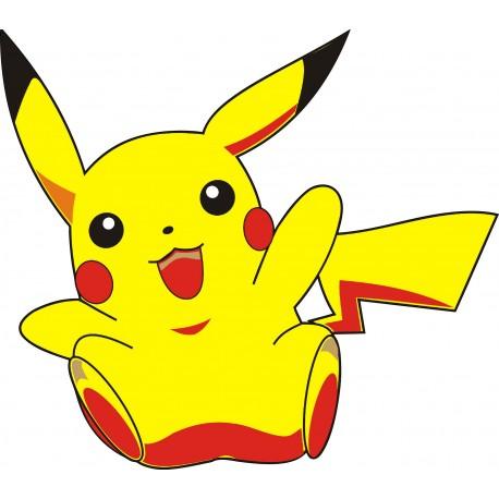 sticker Autocollant enfant Pikachu 1531