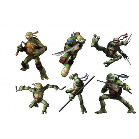 Stickers enfant planche de stickers Tortue Ninja ref 15136