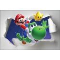 Stickers enfant papier déchiré Mario Galaxt réf 7654