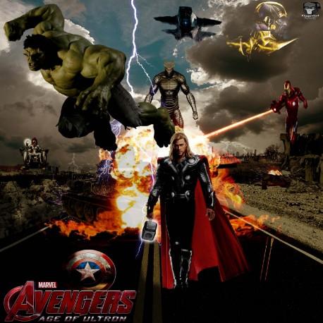 Stickers enfant géant Avengers 15166