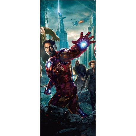 Stickers porte Iron Man Avengers réf 15173