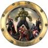 Sticker hublot enfant Avengers 9568