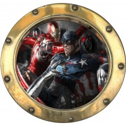 Sticker hublot enfant Avengers 9569