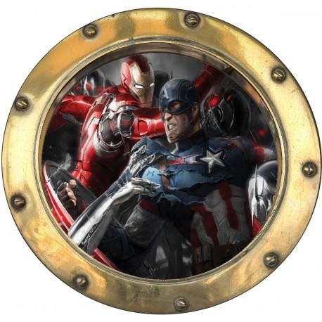 Sticker hublot enfant Avengers 9569