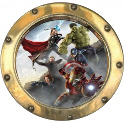 Sticker hublot enfant Avengers 9570