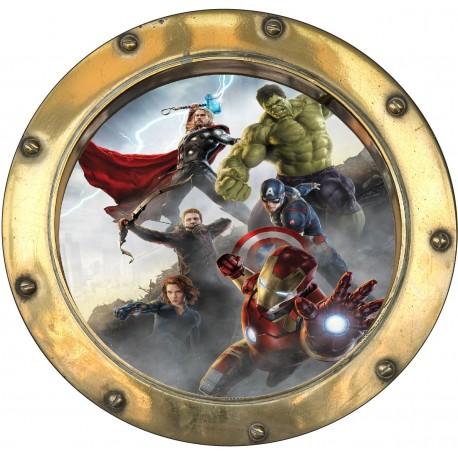 Sticker hublot enfant Avengers 9570