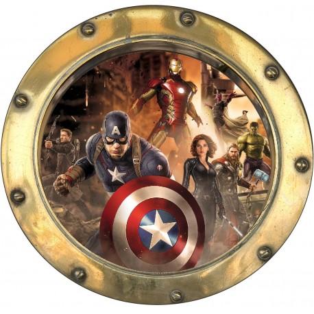 Sticker hublot enfant Avengers 9571