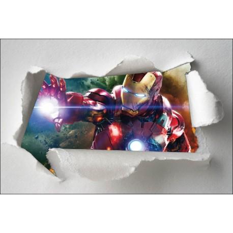 Stickers enfant papier déchiré Avengers réf 7660