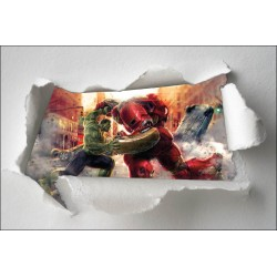 Stickers enfant papier déchiré Avengers réf 7661