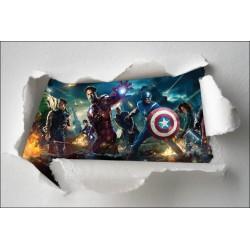 Stickers enfant papier déchiré Avengers réf 7663