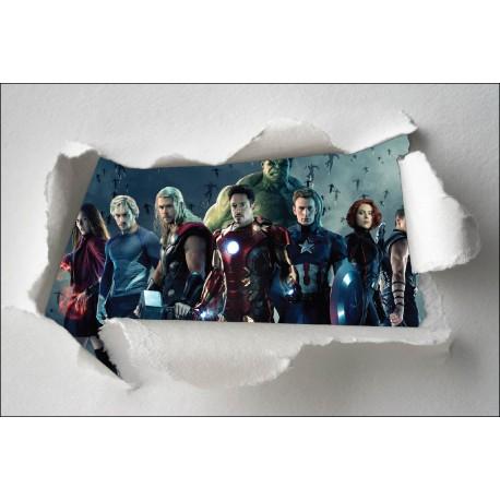 Stickers enfant papier déchiré Avengers réf 7664