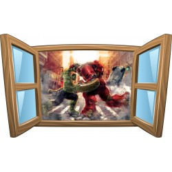 Sticker enfant fenêtre Avengers réf 1071