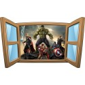 Sticker enfant fenêtre Avengers réf 1072