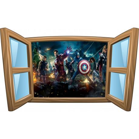 Sticker enfant fenêtre Avengers réf 1075