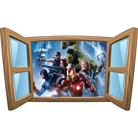 Sticker enfant fenêtre Avengers réf 1076