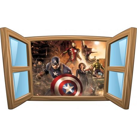 Sticker enfant fenêtre Avengers réf 1077