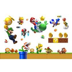 Stickers muraux enfant Mario et ses amis réf 15192