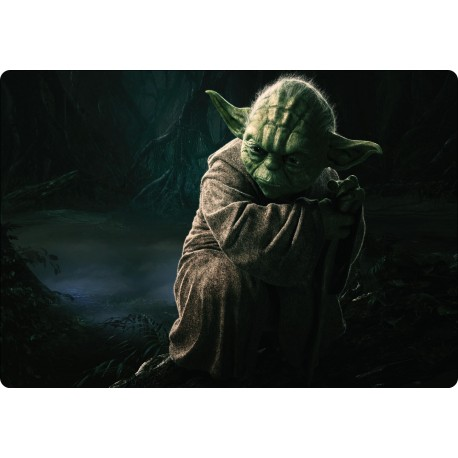 Stickers PC ordinateur portable Yoda Star Wars réf 16247