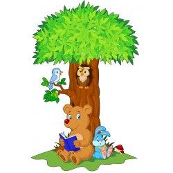 Stickers Arbre Animaux 15206