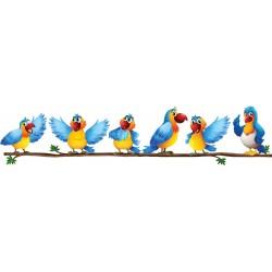 sticker Autocollant enfant Oiseaux branche 15210