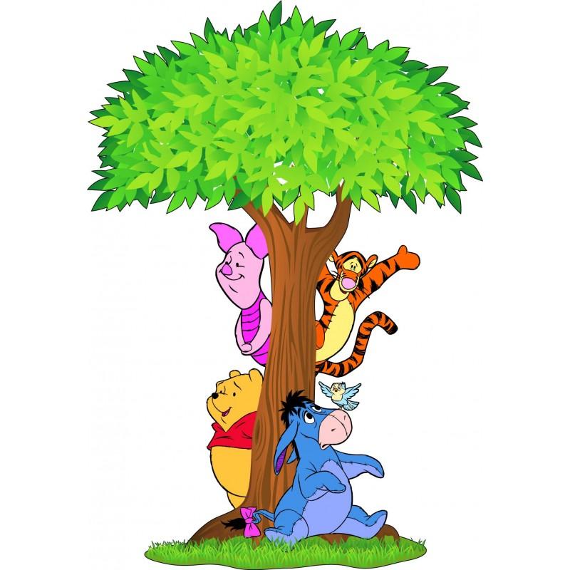 Stickers arbre winnie l 39 ourson 15211 stickers muraux enfant - Tete winnie l ourson ...