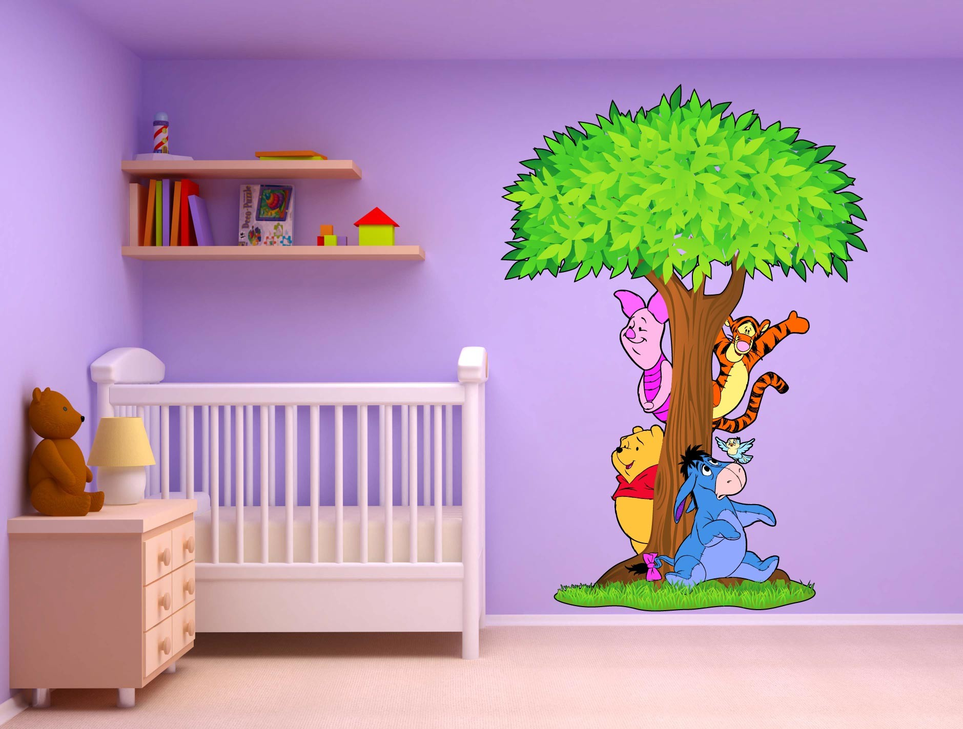 Dcoration Chambre Winnie L Ourson. Winnie Et Son Pot De Miel With ...