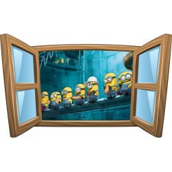 Stickers enfant fenêtre Les Minions réf 1045