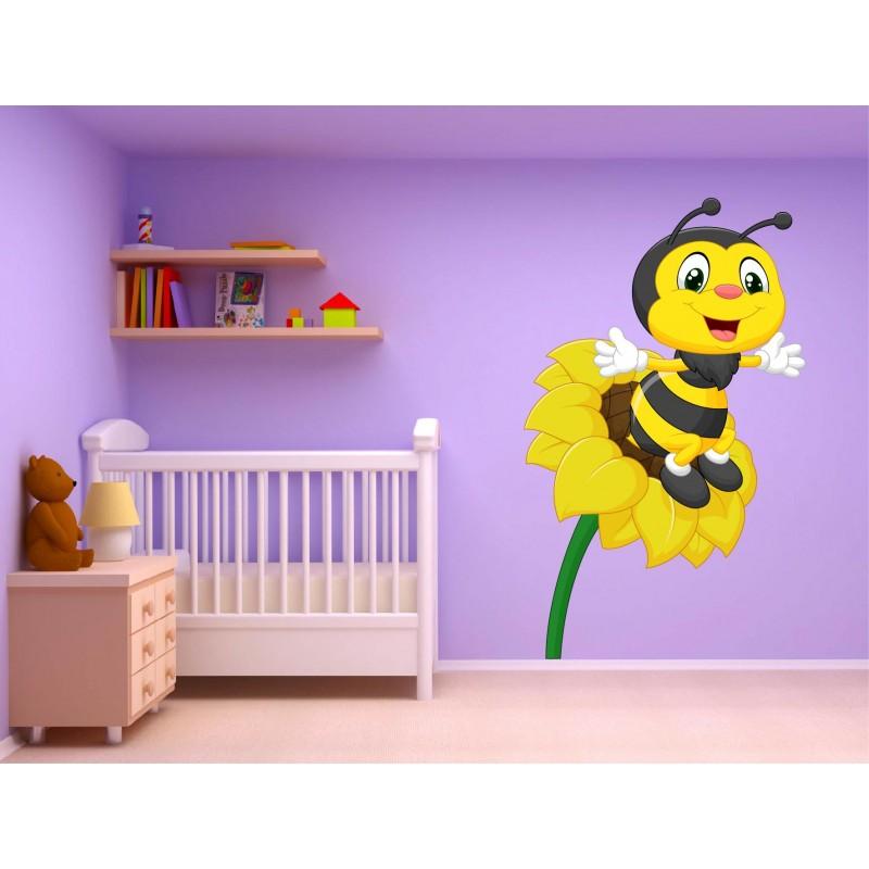 Stickers muraux enfant autocollant abeille 15226 for Autocollant mural
